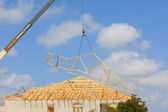 Roof Truss, Construction — Stock Photo