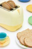 Torradeira e pão — Foto Stock