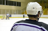 Monitoring hockey training — Stock Photo