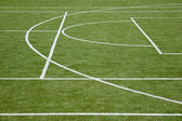 Partitioning mini-soccer field — Stock Photo