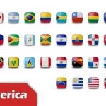Flaga amerykańska przyciski — Zdjęcie stockowe
