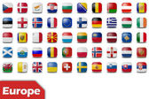 European flag buttons — Stock Photo
