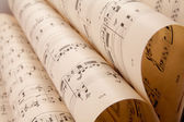 Old music sheet — Stock Photo