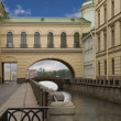 Stock Photo: Russia, Saint-Petersburg, Canal near Ermitage
