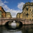Stock Photo: Russia, Saint-Petersburg, Bridges of Winter Channel near Erm