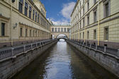 Russia, Saint-Petersburg, Bridges of Winter Channel near The Erm — Stock Photo