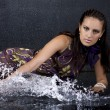 Stock Photo: Portrait of beautiful womin aquastudio