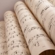 Stock Photo: Old music sheet