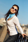Young pretty woman outdoor — Stock Photo