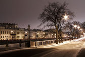 St. Petersburg, Fontanka river in the ice — Stock Photo