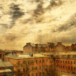Stock Photo: Russia, St.Petersberg, old roofs
