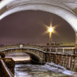 St. Petersburg, ambankment of Neva, winter canal - Foto Stock