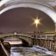 St. Petersburg, ambankment of Neva, winter canal - Stock Photo