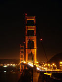 Golden Gate Bridge bei Nacht — Stock Photo