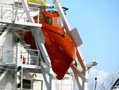 Freifallrettungsboot - Freefall Lifeboat — Stock Photo