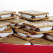 Platter of smores — Stock Photo