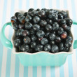 Royalty-Free Stock Photo: Bowl of blueberries on lines