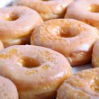 Stock Photo: Glazed doughnuts