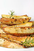 Roasted potatoes vertical — Stock Photo
