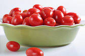 Organic grape tomatoes — Foto Stock