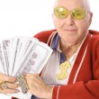 Shot of a pimpin grandpa — Stock Photo