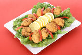 Seafood hushpuppy fritters — Stock Photo