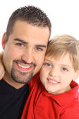 Happy father and son vertical — Stock Photo