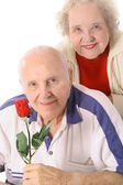 Shot of happy seniors portrait — Stock Photo