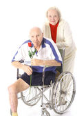 Shot of a happy handicap couple in love — Stock Photo