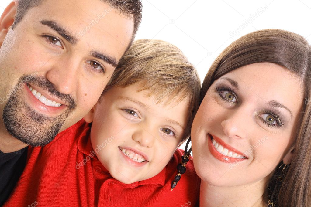 Beautiful family portrait angle — Stock Photo #3460230