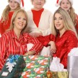Stock Photo: Pretty woman with presents