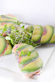 Veggie spring roll wrappers vertical — Stock Photo