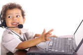 Toddler technical problems — Stock Photo