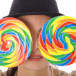 Shot of lollipop eyes - Stock Photo