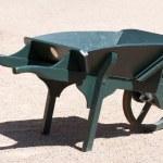 Wooden Wheelbarrow — Stock Photo