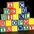 A-Z Alphabet Blocks — Stock Photo