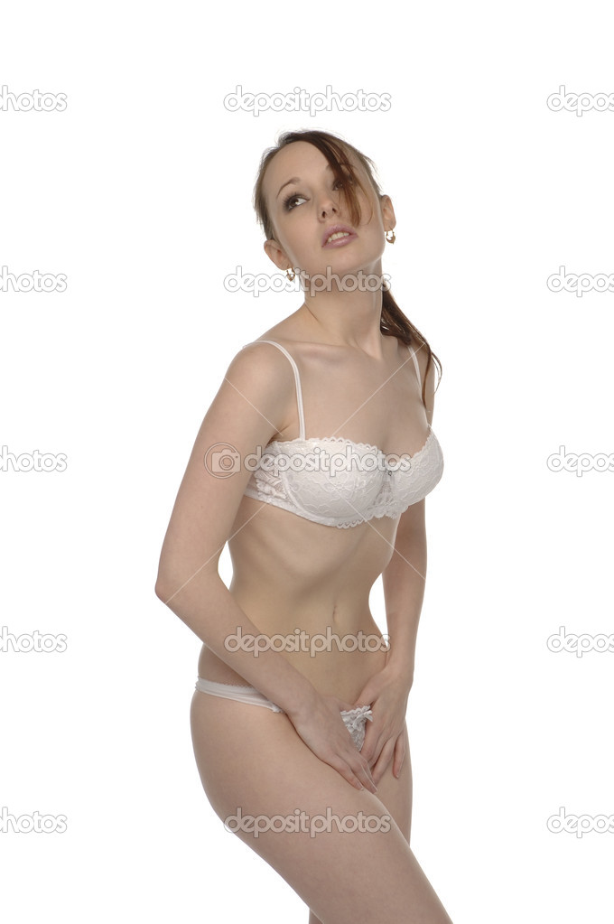 Young woman with very slim waist — Stock Photo #3462681