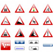 Stock Photo: Road signs icons