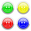 Royalty-Free Stock Photo: Faces icons