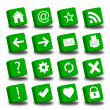 Royalty-Free Stock Photo: Web green icons