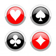 Aces icons — Stock Photo