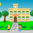 Vector de stock : Go to school