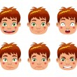Boy epressions - Stock Vector