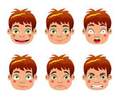 Boy epressions — Stock Vector