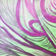 Stock Photo: Healing waves in purple, green, and white