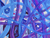Blue, Purple Paths Abstract Background — Stock Photo