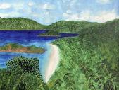 View of beach in St John, US Virgin Islands — Stock Photo