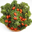 Red Kale, Cherry Tomatoes — Stock Photo #3789157