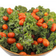 Red Kale with Tomatoes — Stock Photo