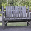 Park Bench Gray - Stock Photo